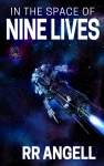 Cover image for In The Space Of Nine Lives showing a space ship approaching a rock cluster in deep space