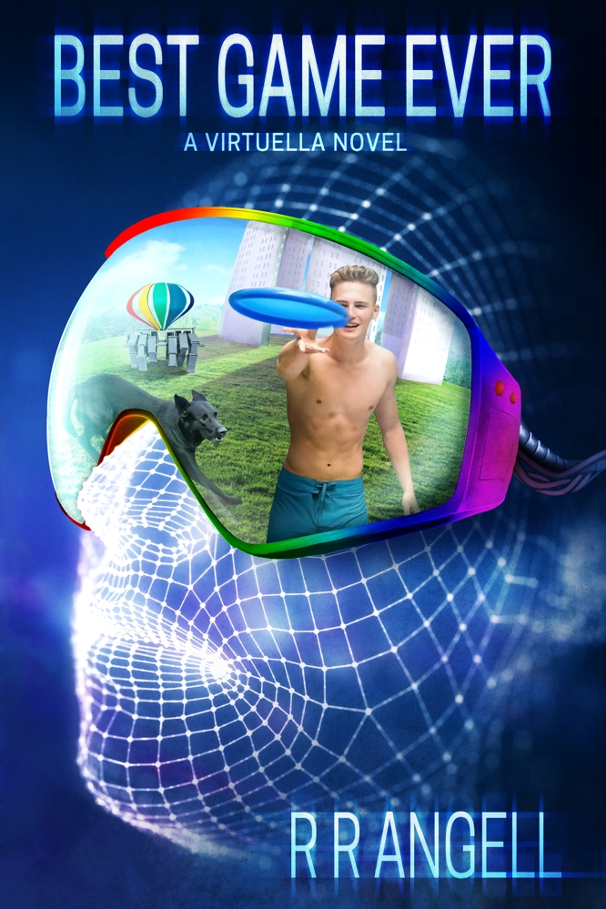 Cover image for Best Game Ever showing a virtual face with display goggles showing realspace
